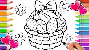 It could be a great opportunity to spend valuable time together with your family. Easter Basket Coloring Page Easter Coloring Book Glitter Sparkle Easter Eggs Printable Rainbow Youtube