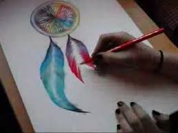 Colorful Dream Catcher Tumblr Drawing a Dreamcatcher with Chalk YouTube 78