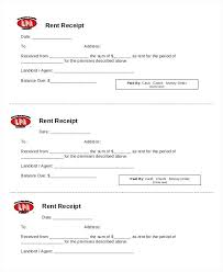 Receipt For Rent Template Blank Rent Receipt Template In