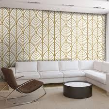Art Deco Bladeren Behang Moonwallstickerscom