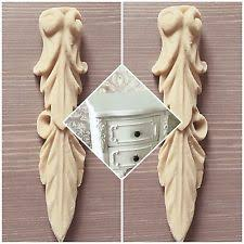 appliques for furniture. pair of shabby chic furniture corner edge corbels decorative appliques moulding for e
