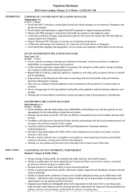 Government Resume Sample Government Relations Manager Resume Samples Velvet Jobs 14
