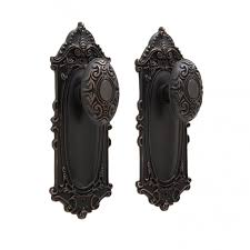 Victorian Door Knob Plate Set Privacy Passage and Dummy Hardware