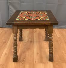 mahogany coffee table. Taylor Tilery Spanish Tile Mahogany Side Table 2 Coffee