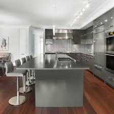 kitchen cabinets with hardwood floors light gray walls gray