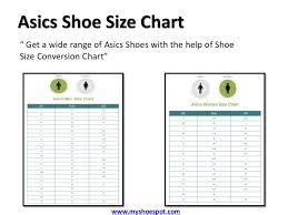 Asics Size Chart Buy Your Favorite Shoes By Using Shoe Size Conversion Chart
