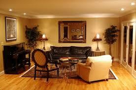 lighting for the living room. Modern Lighting On Brown Living Room For The