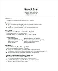 Fresh Sample Resume Business Administration And Business