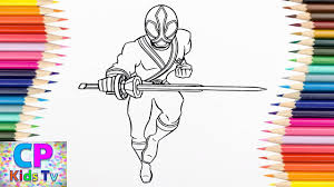 Power Rangers Samurai Coloring Pages How To Color Samurai Red