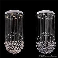 modern k9 crystal chandelier square shaped crystal chandelier led lighting luxury villa duplex hotel stairs light lighting chandeliers 3 light