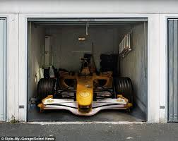 Need for speed: Petrolheads are sure to love this Formula One-themed garage  door