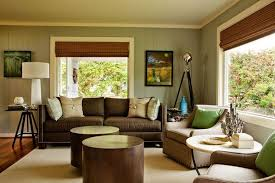 This Inviting Living Room Offers Comfortable Seating In Warm Shades That  Complement The Bright Wood Of
