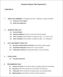Business Report Example Ask Fancy How To Write A Formal Business
