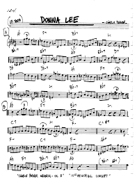 Donna Lee Chart Donna Lee Lead Sheet Sheet Music By Charlie Parker Minedit
