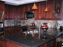 kitchen colors with cherry cabinets granite countertops black marble