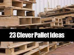 Wooden pallets are one of the most common things that get thrown out today!  But