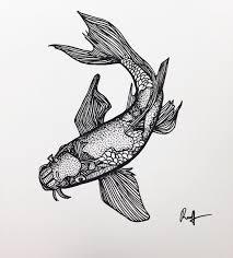 realistic koi fish drawing. Plain Drawing For Realistic Koi Fish Drawing I