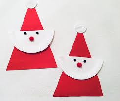 Einfacher Weihnachtsmann Aus Pappteller Basteln Mit