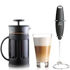 It's battery operated and ideal color: Zulay Kitchen Premium Milk Frother And French Press Coffee Maker Reviews Wayfair