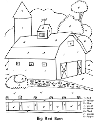 Adult Color By Numbers Adult Coloring Pages Farm Coloring Pages