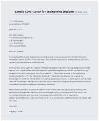 Outstanding Cover Letter Example Cover Letter Sample For Mechanical Engineer Resume Outstanding