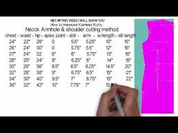 Blouse Shoulder Measurement Chart Pin On Kid Outfits