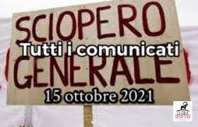 SCIOPERO NAZIONALE NO GREEN PASS | 15 OTTOBRE | Tutti i comunicati -  Catania CreAttiva Blog & Web Radio/TV