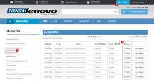 Formatos De Factura Descargar Facturas Tienda Lenovo
