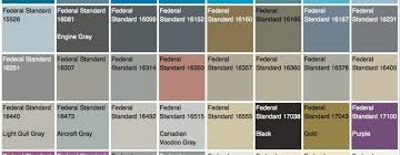 Fed Std 595b Color Chart The U S Government Has Their Own Official Color System Core77
