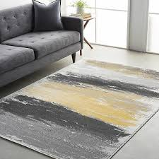 wrought studio shuff gray yellow area rug