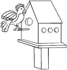 Small Picture Printable Easter Coloring Page bird house