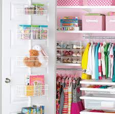 white elfa utility kid s closet door wall rack with wire baskets