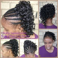 Chi Hair Style natural flat twist with synthetic ponytail children hair styles 2722 by wearticles.com