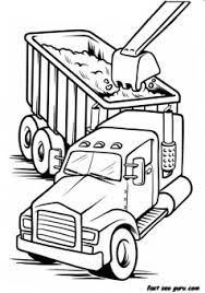Printable Work Load Truck Coloring Book Page For Boy Printable