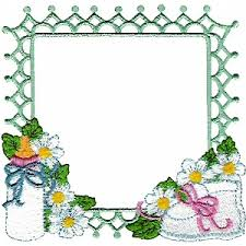 frame1 - Baby Frame - Machine Embroidery Design