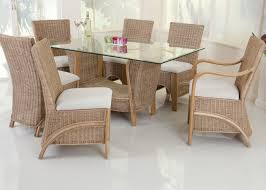beautiful cane furniture dining table in room