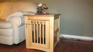 wooden crate end table how to make dog crate end table custom pet furniture i natural