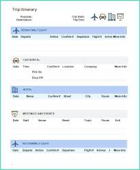 Word Travel Itinerary Template Best Travel Itinerary Template Vacation Google Sheets