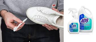 clean converse with toothbrush and 409 cleaner