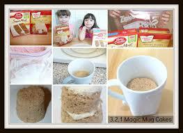 3 2 1 magic mug cake collage
