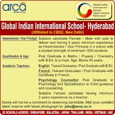 Jobs In Global Indian International School Vacancies In Global