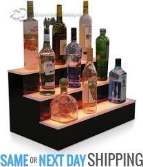 Bar Bottle Display Stand Unique 322 32 Step Tier LED Lighted Shelves Illuminated Liquor Bottle Bar
