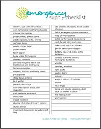 Emergency List Free Printable Emergency Supply List The Peaceful Mom