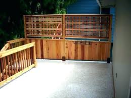 privacy deck rail screen for railing style lattice add to glass ra