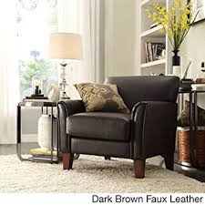 tribecca home furniture. TRIBECCA HOME Furniture Uptown Modern Accent Chair Dark Brown Faux Leather Throughout Tribecca Home