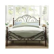 Queen Bed Antique Victorian Iron Vintage Rustic Metal Headboard ...