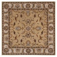home decorators collection aristocrat beige 8 ft x 8 ft square area rug