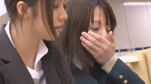 Japanese lesbian chikan with toys
