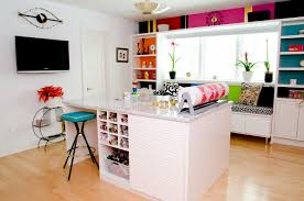 office craft room. Bright And Beautiful Craft Room Contemporary-home-office Office