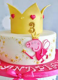 Princess Peppa Pig Cake Peppa Pig Themed Cakes Pig Birthday